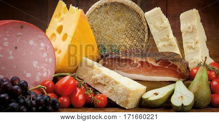 Italian Ham Mortadella, Cheese