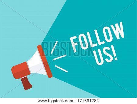 Megaphone speech follow us social media communication message web vector stock