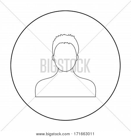 Boxer icon in outline style isolated on white background. Boxing symbol vector illustration.