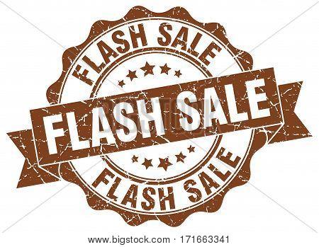 flash sale. stamp. sign. seal. round. retro. ribbon