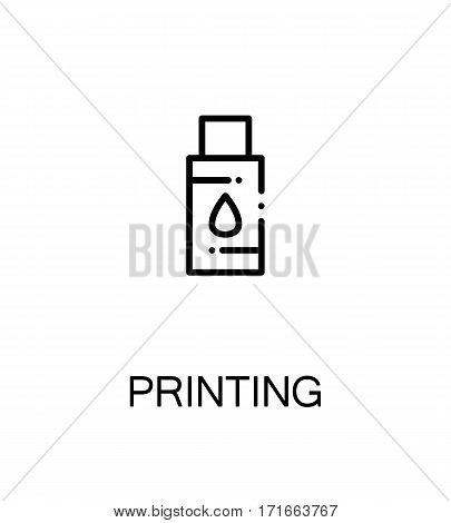 Printing icon. Single high quality outline symbol for web design or mobile app. Thin line sign for design logo. Black outline pictogram on white background