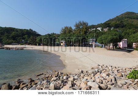 View of Hung Shing Yeh Beach Lamma Island. poster