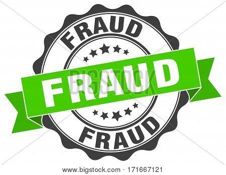 fraud. stamp. sign. seal. round. retro. ribbon