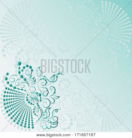 Abstract floral composition. Design for greeting card happy birthday, an invitation to an engagement, wedding, background, web pages, the surface texture.