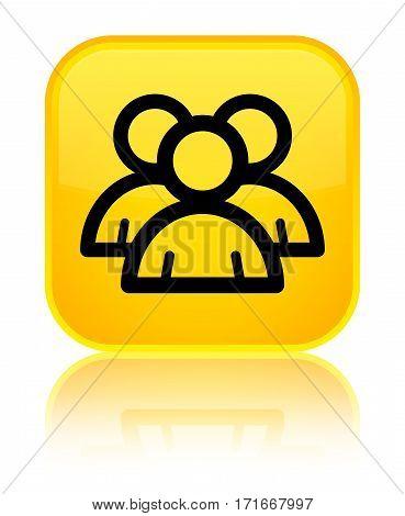 Group Icon Shiny Yellow Square Button