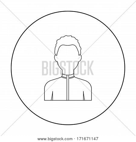 Boy icon outline. Single avatar, peaople icon from the big avatar outline.