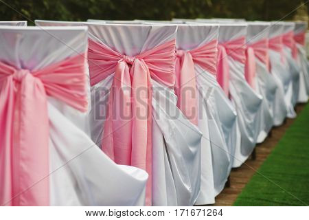 The amazing decorations for the wedding ceremony