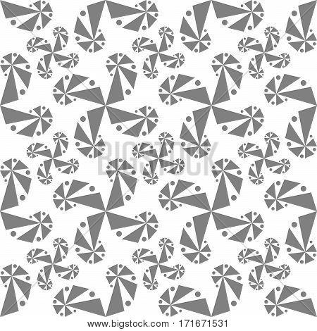 Seamless Pattern With Swirls On White Background.
