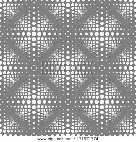 Seamless Pattern With Circles And Triangles.