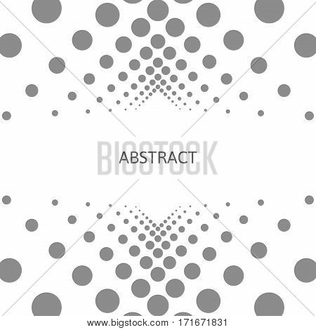 Abstract Background With Circles On A White Background.