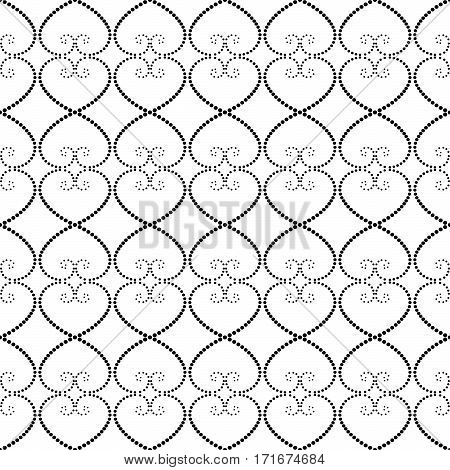 Seamless Pattern Of Dots On A White Background.