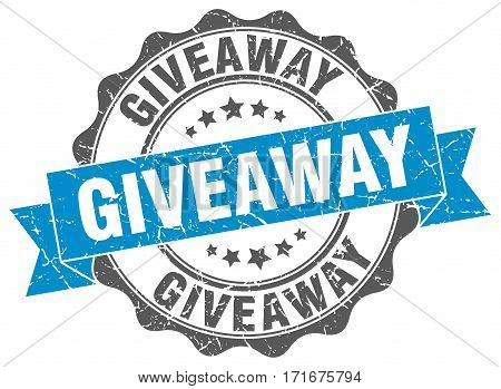 giveaway. stamp. sign. seal. round. retro. ribbon