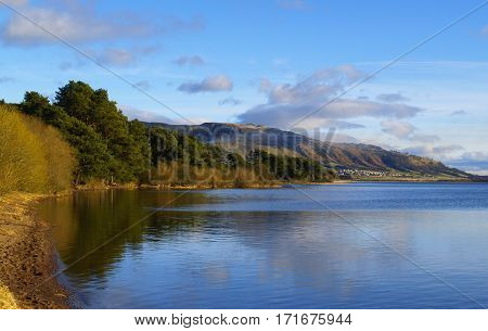 A calm day on Loch Leven Scotland