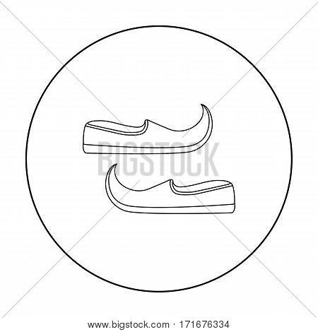 Arabian khussa icon in outline style isolated on white background. Arab Emirates symbol vector illustration.