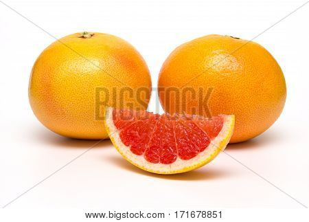 Grapefruit isolated on white background. With clipping path.