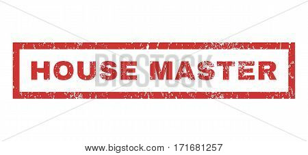 House Master text rubber seal stamp watermark. Caption inside rectangular banner with grunge design and dirty texture. Horizontal vector red ink sticker on a white background.