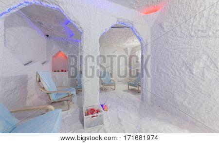 MOSCOW - APRIL 2015: Interior Salt Cave