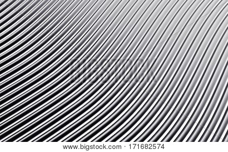 Silver abstract image of lines background. 3d rendering