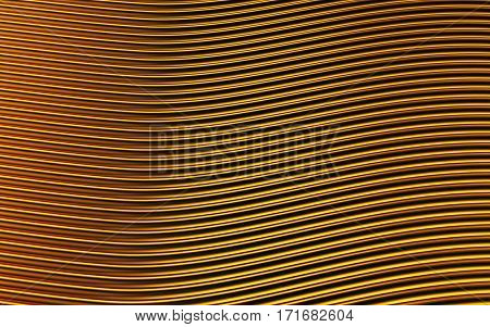 Gold abstract image of lines background. 3d rendering