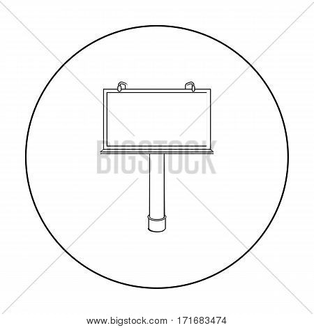 Billboard icon in outline style isolated on white background. Advertising symbol vector illustration.