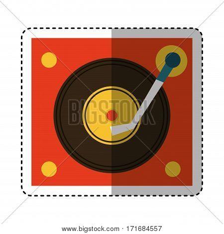 long play player retro music icon vector illustration design