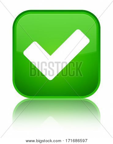 Validate Icon Shiny Green Square Button