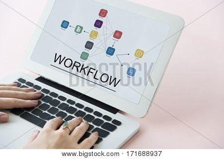 Progress Summary Workflow Business Icon