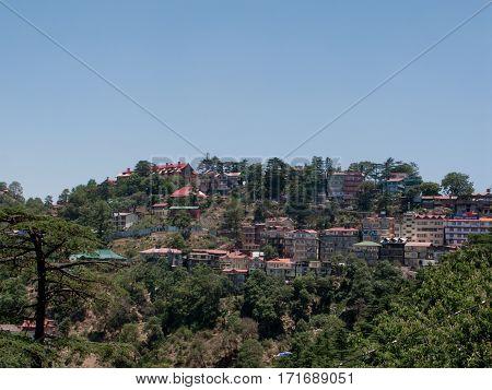 SHIMLA, INDIA. June 8, 2009: At home on the slopes of the Himalayas. Shimla, Himachal Pradesh, India