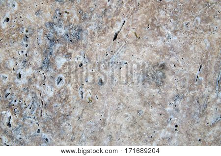 Closeup of grey granite as texture or background