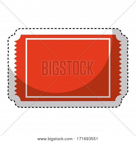 ticket cinema isolated icon vector illustration design