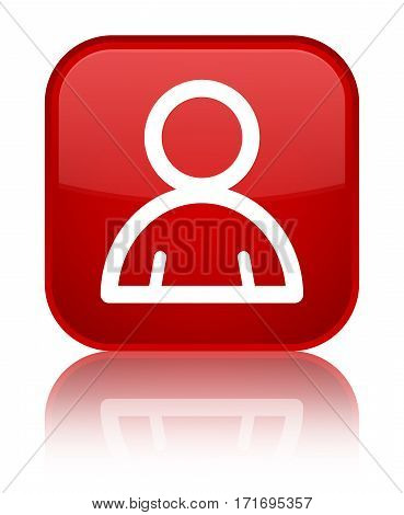 Member Icon Shiny Red Square Button