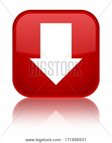 Download Arrow Icon Shiny Red Square Button