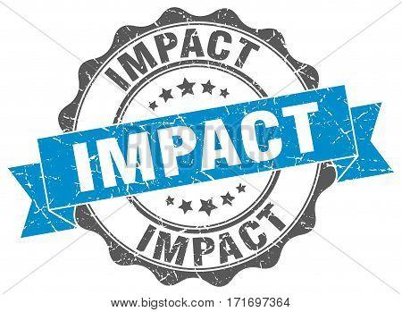 impact. stamp. sign. seal. round. retro. ribbon