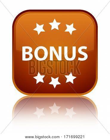 Bonus (stars) Icon Shiny Brown Square Button