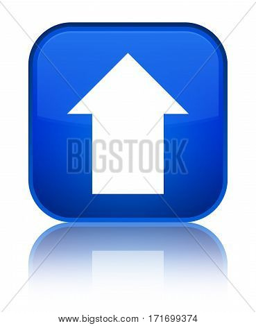 Upload Arrow Icon Shiny Blue Square Button