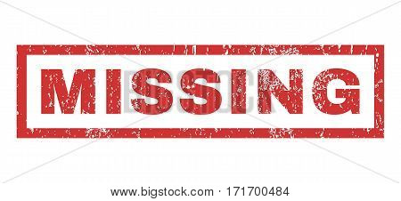Missing text rubber seal stamp watermark. Tag inside rectangular shape with grunge design and unclean texture. Horizontal vector red ink sign on a white background.
