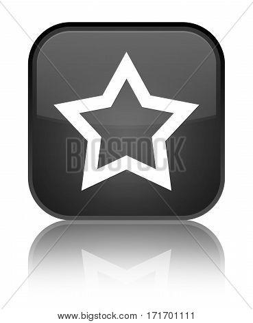 Star Icon Shiny Black Square Button