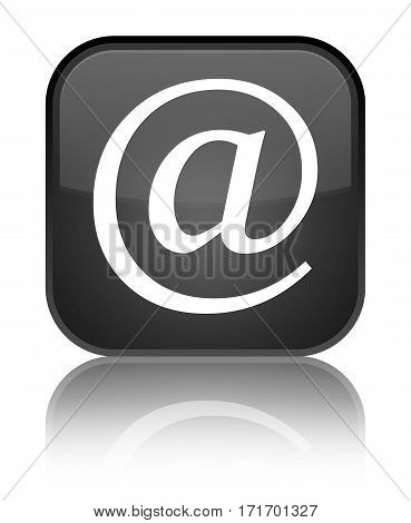 Email Address Icon Shiny Black Square Button