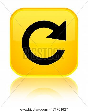 Reply Rotate Icon Shiny Yellow Square Button