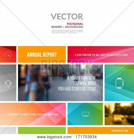 Business vector design elements for graphic layout. Modern abstract background template with many colourful rectangles, soft shapes  for PR, business, tech in clean minimal style.