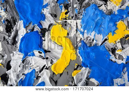 blue yellow gray black and white a background