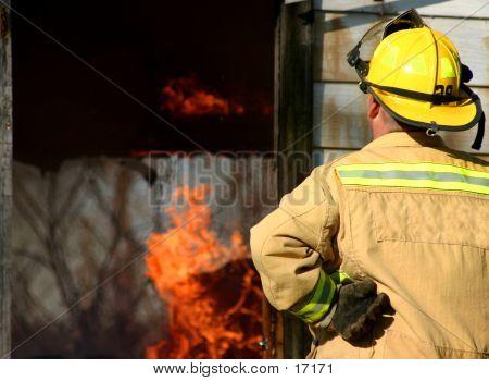 Fireman Looking