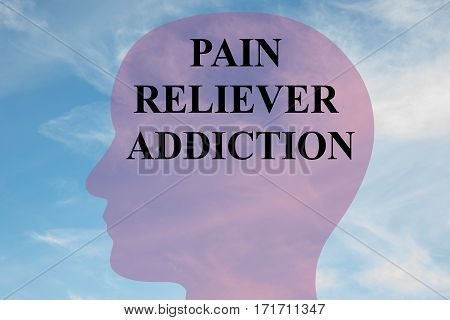Pain Reliever Addiction Concept