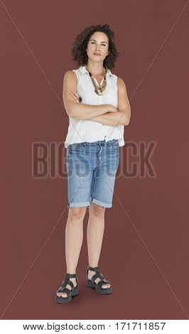 Caucasian Woman Casual Confident