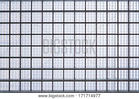 iron barred prison window grill closeup background