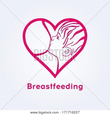 Breastfeeding coalition emblem breastfeeding week logo lactation consultant logo