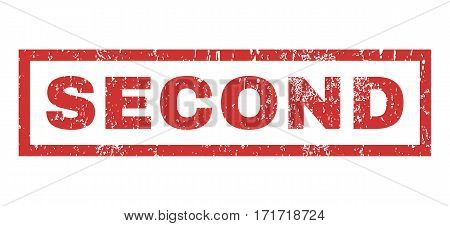 Second text rubber seal stamp watermark. Caption inside rectangular shape with grunge design and unclean texture. Horizontal vector red ink sticker on a white background.