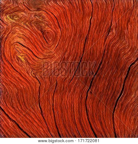 Wooden texture close up photo. Red wood background. Rustic timber digital illustration. Curves and lines on rough old tree. Natural timber texture. Sea wood backdrop. Rough weathered table pile