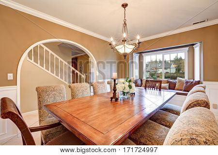 Elegant Interior Design Of Formal Dining Room