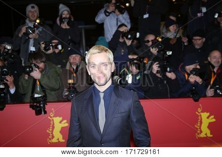 Shooting Star Alessandro Borghi during the 'The Party' premiere during the 67th Berlinale  Film Festival Berlin at Berlinale Palace on February 13, 2017 in Berlin, Germany.